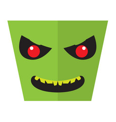 angry halloween cartoon alien avatar vector image