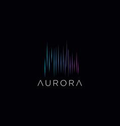 Aurora logo icon design template stock illu vector