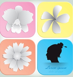 Beautiful Flowers Design For Spa Background And vector