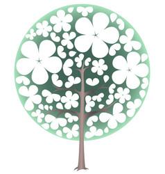 blooming tree spring vector image