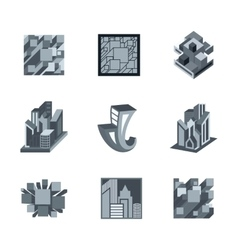 Building Logo Templates vector image