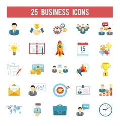 Business startup flat icons set vector