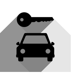car key simplistic sign black icon with vector image