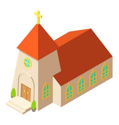 Chapel icon isometric style vector