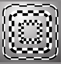 Checkered chequered border frame isolated art vector