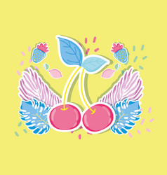 Cherry punchy pastels vector