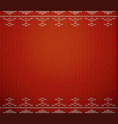 christmas wool pattern vector image