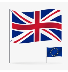 color european union flag and united kingdom vector image vector image