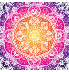 colorful ornamental floral ethnic mandala vector image
