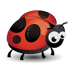 Comic ladybird isolated vector