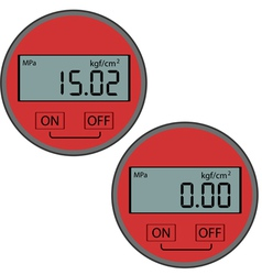 digital gas manometer vector image