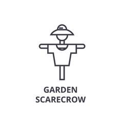garden scarecrow line icon outline sign linear vector image