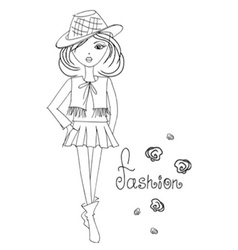girlfashion vector image