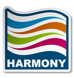Harmony abstract wave sticker vector
