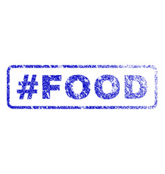 Hashtag food rubber stamp vector