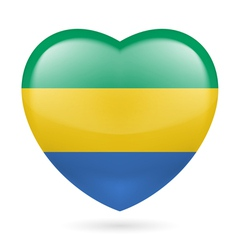 Heart icon of Gabon vector image