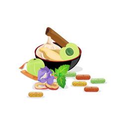 Herb capsule vector