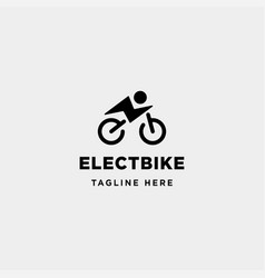 Hipster bike electric logo design power vehicle vector