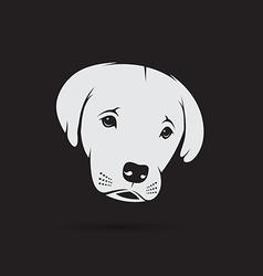 image of an labrador puppy face vector image