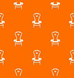 King throne chair pattern seamless vector