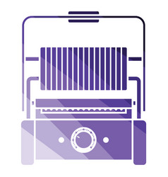 Kitchen electric grill icon vector