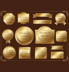 Labels 5 gold vector
