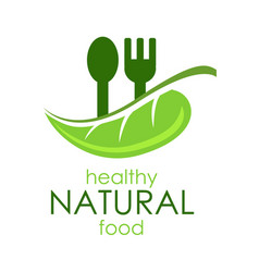 logo healthy natural food vector image
