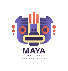 Maya logo original design american indian tribal vector