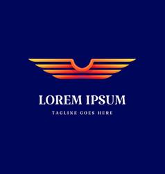 Modern colorful wing logo design vector