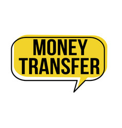 Money transfer speech bubble vector