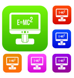 Monitor with einstein formula set collection vector