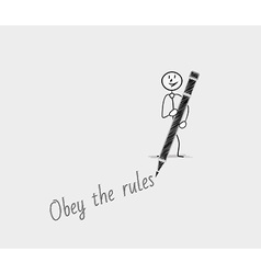 Obey the rules vector