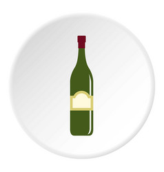 One bottle icon circle vector