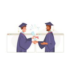 online presentation diploma graduate lecturer vector image