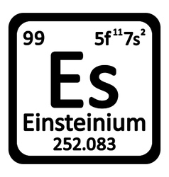 Periodic table element einsteinium icon vector image