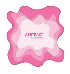 Pink paper cut abstract background vector