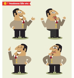 President emotions in poses vector