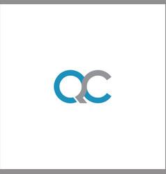 Q c letter logo design on black color background vector