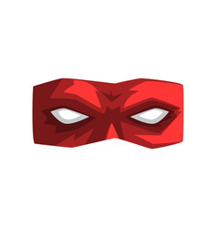 Red superhero mask on a white vector