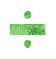 Retro style cartoon division symbol vector