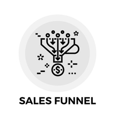 Sales Funnel Line Icon vector