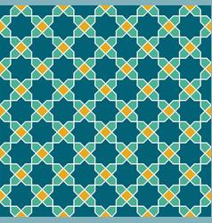 Seamless arabic geometric colored ornament in vector