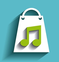 shopping music design vector image