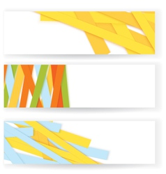 Shredded colorful paper banners vector