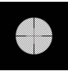 Sniper scope overlay vector image
