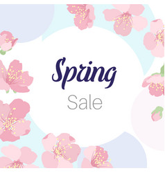 Spring sale sakura cherry tree blossom flowers vector