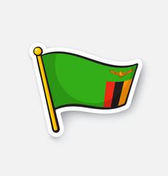 Sticker national flag zambia vector