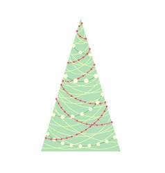 Stylized Christmas tree with on white background vector