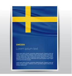 Sweden independence day design card vector