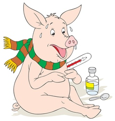 swine flu vector image